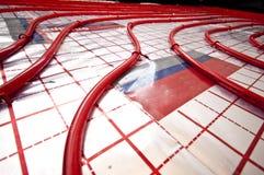 Floor heating installation Royalty Free Stock Photos