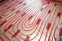 Floor heating installation Stock Photography