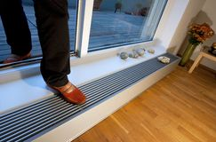 Floor heating in interior Royalty Free Stock Photos