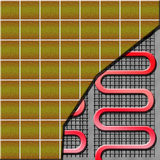 Floor heating system. Electrical floor heater under ceramic tiles Royalty Free Stock Images