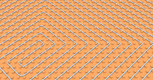 Floor heating system Stock Image