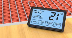 Floor heating system Stock Photos