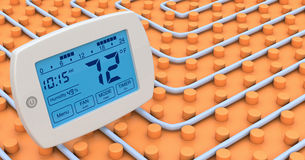 Floor heating system Royalty Free Stock Image