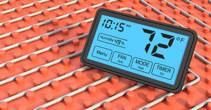 Floor heating system Stock Photography