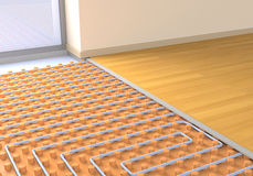 Floor heating system Royalty Free Stock Photos