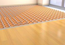 Floor heating system Stock Photo