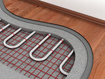 Floor heating system. Royalty Free Stock Photo