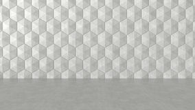 Floor and hexagons concrete pattern background. 3D rendering stock illustration