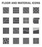 Floor icons sets. Floor and material icons sets Royalty Free Stock Photos