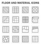 Floor icons sets. Floor and material icons sets on white Royalty Free Stock Photography