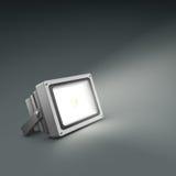 Floor illuminated spotlight Stock Images
