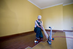 Floor installation Stock Photography