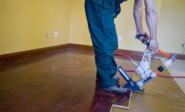Floor installation Stock Image