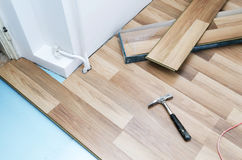 Floor installation Stock Photo