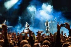 Floor Jansen and finnish rock band Nightwish Stock Photography