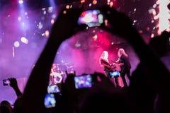 Floor Jansen and finnish rock band Nightwish Royalty Free Stock Image