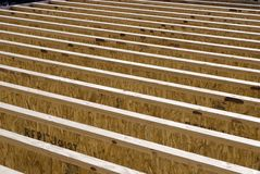 Floor joists Royalty Free Stock Images