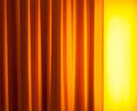 Floor lamp ahead curtain Royalty Free Stock Image