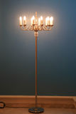 Floor Lamp with blue background Royalty Free Stock Image