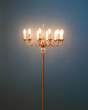 Floor Lamp with blue background Royalty Free Stock Photo