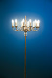Floor Lamp with blue background Stock Photo