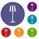 Floor lamp icons set Royalty Free Stock Image