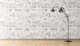Floor lamp interior background 3d rendering Royalty Free Stock Image