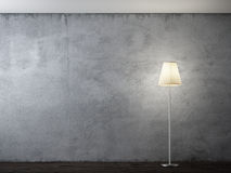Floor lamp in interior Stock Photos