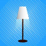 Floor lamp, lampshade, diffused light, dot background. Floor lamp lampshade diffused light dot background Royalty Free Stock Image