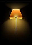Floor lamp shines in the dark. Vector illustration Royalty Free Stock Photo