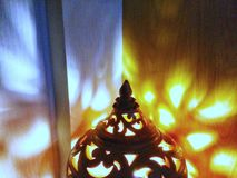 Floor lamp statue lighting up background Royalty Free Stock Photos