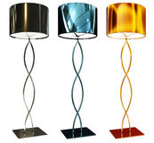 Floor lamps. Steel construction floor lamps. Isolated from some invironment Stock Images