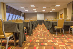 Floor Level View of Conference Room Stock Image