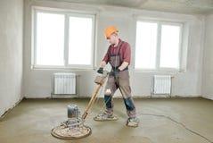 Free Floor Machine Grinding By Power Trowel Stock Photos - 71268543