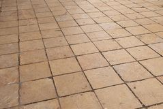 Floor made of tiles Royalty Free Stock Image