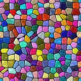 Floor marble mosaic pattern seamless background with black grout - rainbow full color spectrum - hot pink, magenta, purple. Surface floor marble mosaic pattern stock illustration