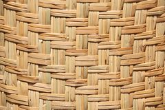 Floor mat made from woven reeds Stock Photo