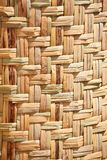 Floor mat made from woven reeds Royalty Free Stock Photo
