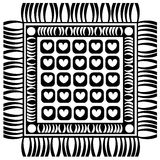 Floor mat  on white Royalty Free Stock Photos