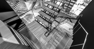 Floor. Modern industrial interior, stairs, clean space in industry building vector illustration