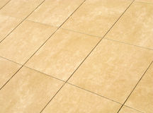Floor mosaic in beige squares Royalty Free Stock Photography