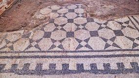 Floor mosaic in the Caseggiato del Termopolio - Ostia Antica. Rome - Italy Stock Photography