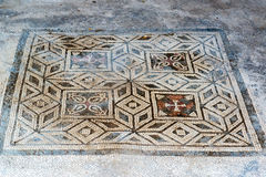 Floor mosaic in in Pompeii, Italy Royalty Free Stock Image