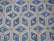 Mosaic Floor With Crescent Moons royalty free stock photography