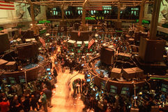 Floor of New York Stock Exchange stock photography
