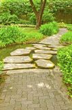 Floor pathway in garden Royalty Free Stock Images