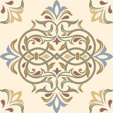 Floor pattern with ceramic tiles. Background with portuguese azulejo, mexican talavera, spanish or italian majolica motifs royalty free illustration