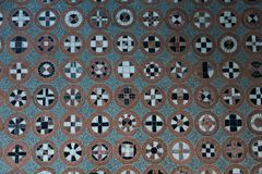 Floor pattern with different symbols in circles. Floor pattern. Different symbols in circles stock images