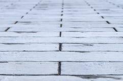 Floor with paving grey bricks Royalty Free Stock Photos