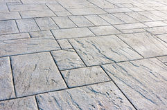 Floor with paving stones Stock Photo
